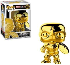 Фигурка Funko Pop! Marvel - Captain America (Gold Chrome)