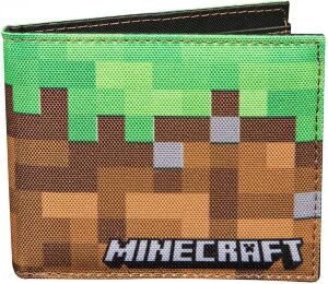Кошелёк Minecraft Dirt Block Nylon Bi-Fold Wallet