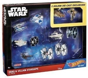 Набор фигурок - Star Wars Hot Wheels Hero & Villain Starships 11-Pack