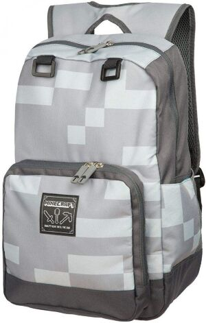 "Рюкзак Майнкрафт - Minecraft Creepy Creeper Kids Backpack (Grey, 18"") School"